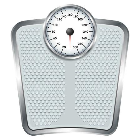 gewicht skala: Personenwaage isolieren �ber wei�e Quadrat Hintergrund
