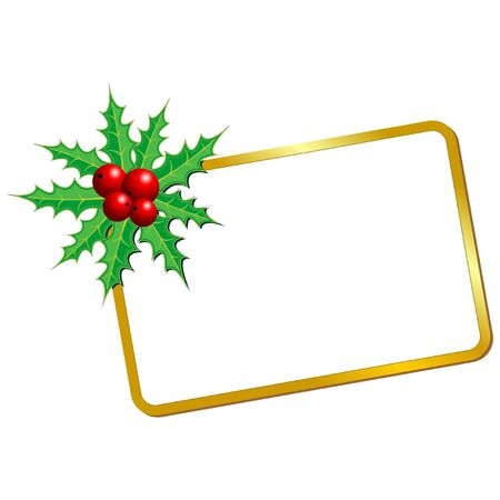 Christmas blank card with holy over white background Stock Vector - 10212738