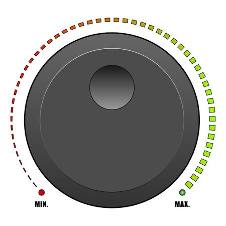 knob: Volume button isolated over white background Illustration