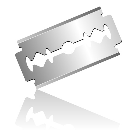 Razor blade isolated over white background