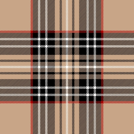 scottish: Classic beige tartan fabric