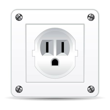 American electric plug isolated over white background Vector