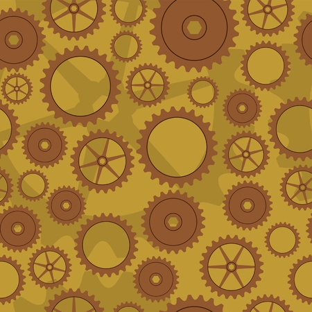 gearings: Cogwheel background pattern Illustration