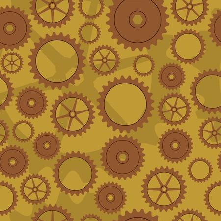 gearings: Cogwheel background pattern Illustration