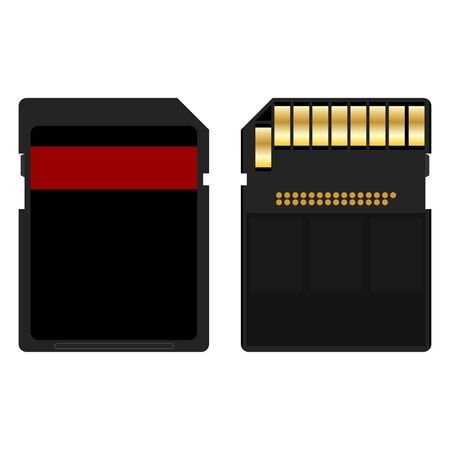 digital memory: Secure digital memory card over white background