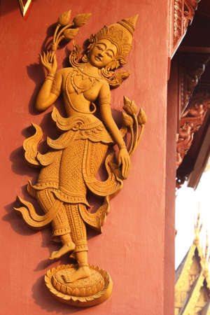 low relief: Low relief sculpture in the thai temple. Stock Photo