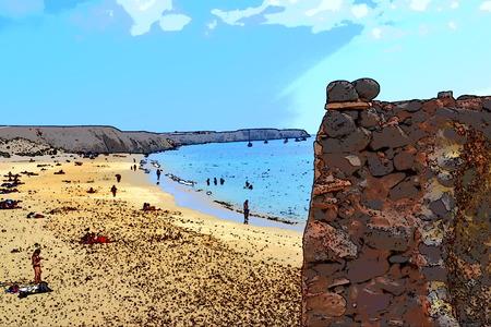 Canary Islands, Lanzarote, Playa Mujeres - Papagayo Arrecife