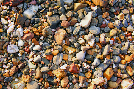 pebbles: Pebbles on beach Stock Photo