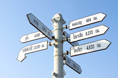 capital cities: World Capital Cities Signpost,Thailand