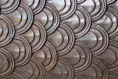 metal Naga scale pattern photo