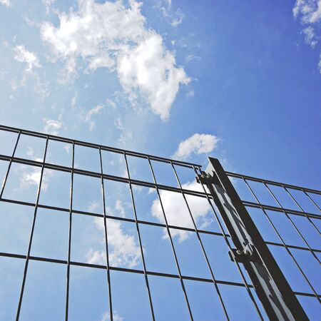 fense: wire fense Stock Photo