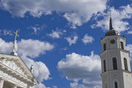 vilnius: Vilnius Cathedral and bellfry Stock Photo