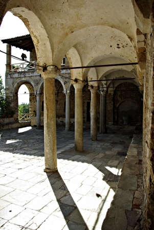 Mystras is a fortified town situated on Mt. Taygetos, near ancient Sparta, it served as the capital of the Byzantine Despotate of the Morea in the 14th and 15th centuries. Stock Photo - 19378335