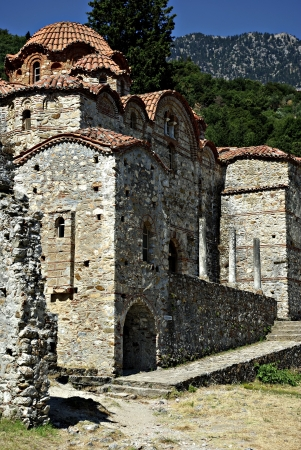 Mystras is a fortified town situated on Mt. Taygetos, near ancient Sparta, it served as the capital of the Byzantine Despotate of the Morea in the 14th and 15th centuries. Stock Photo - 19378408