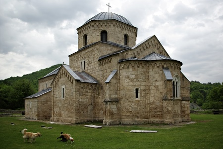 Serbian Orthodox monastery Gradac is located in the central part of Serbia, near the town of Raska. photo