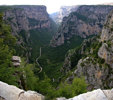 The Vikos Gorge is a gorge in the Pindus Mountains of northern Greece.