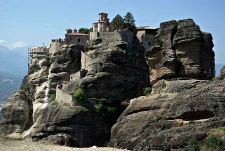 The Holy Monastery of Varlaam is the second biggest monastery at Meteora