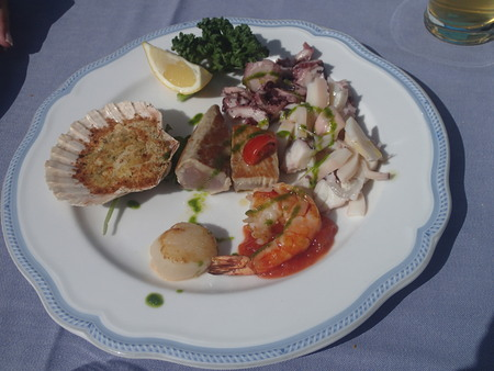Plate with Sea food