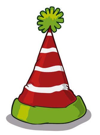 pointy: Pointy elf hat isolated on white background