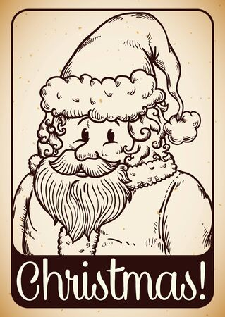 inline: Retro in-line Santas portrait with Christmas message