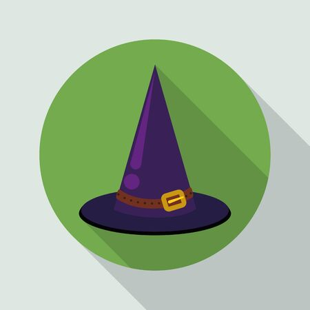 pointy: Classic purple pointy witch hat with long shadows