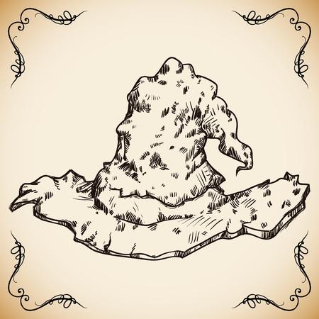 sombrero de mago: Sombrero de mago mano dibujada