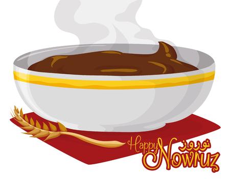Délicieux, frais et chaud dessert samanu dans le cadre de la tradition Haft-Seen pour Nowruz.