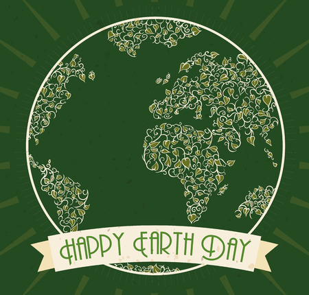 Eco poster design for earth day celebration with a world map eco poster design for earth day celebration with a world map made with vines and leaves gumiabroncs Images