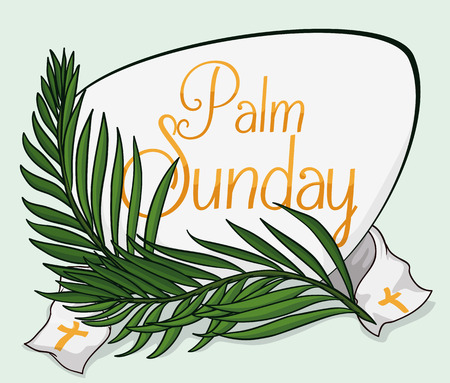 gospels: Traditional palm branches for Palm Sunday commemoration. Illustration
