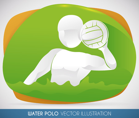 contestant: Goalkeeper doing his best shooting in water polo swimming event.