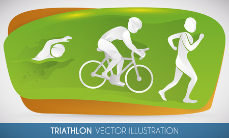 Triathlon disciplines: swimming, cycling and running.
