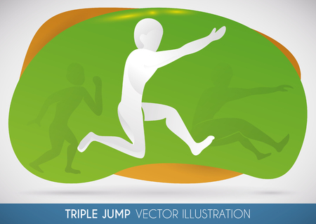 Athlete of Triple jump ready to win the gold medal in sports event
