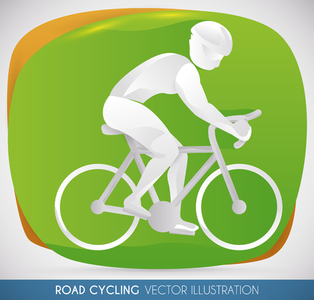 contestant: Athlete practicing road cycling, close to the victory in sports event.