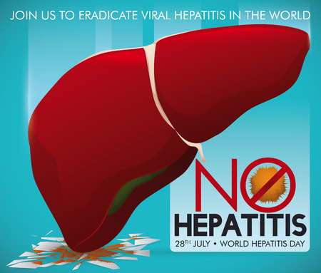 Campaign promoting a healthy liver smashing the hepatitis virus once for all in commemoration of World Hepatitis Day.