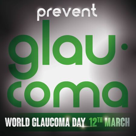 Commemorative poster for World Glaucoma Day with dim light representing the vision loss that may cause this ocular disease. Illusztráció