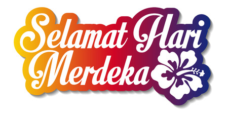 Selamat Hari Merdeka Wish Design With Isolated Background