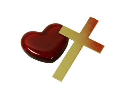 gods: Red heart and a golden cross
