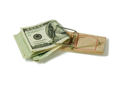 moola: Money in the form of many large bills, Mouse trap used to catch small rodents
