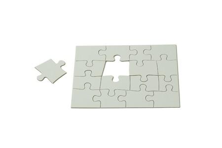 Puzzelstukjes interlocked samen een rechthoek wilt maken