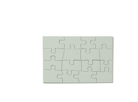 Puzzelstukjes in elkaar samen om een rechthoek