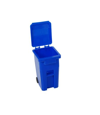 Blue Recycling Bin Imagens