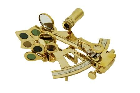Brass Sextant gebruikt voor het navigeren door de sterren Stockfoto - 3954320