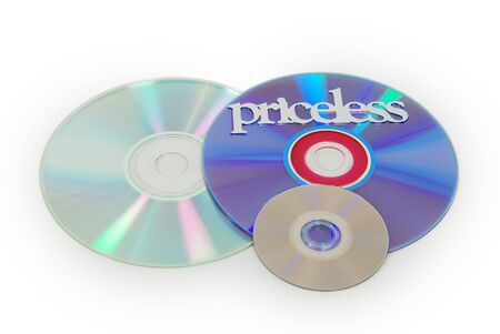 priceless: Different types of disk for storing software, and priceless
