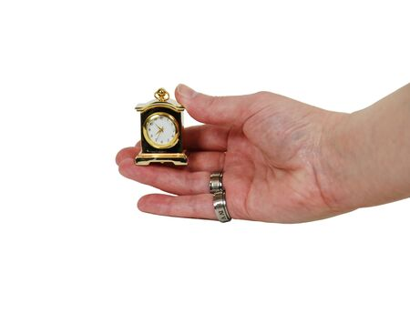 Measuring time passing with a clock