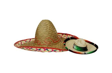 Large and small Sombreros of many bright colors commemorating mexican holidays Reklamní fotografie