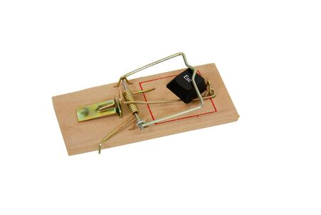 escape key: Mouse trap used to catch small rodents and escape key