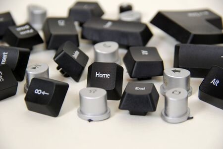 esc: Various computer keyboard keys including home, delete, and end