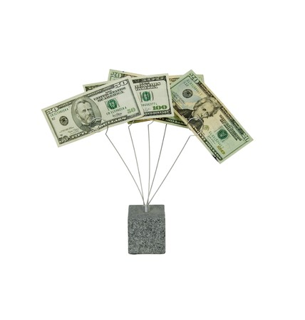 moola: Money in the form of many large bills in a metal spiral holder