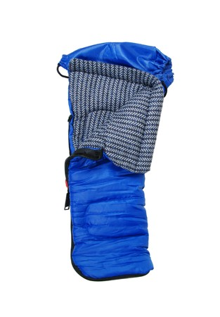 Sleeping bag used to keep warm on camping trips Stock Photo