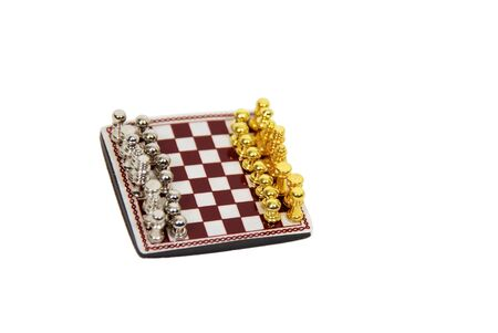 Chess is a strategy game involving specific rules and regulations played by two players